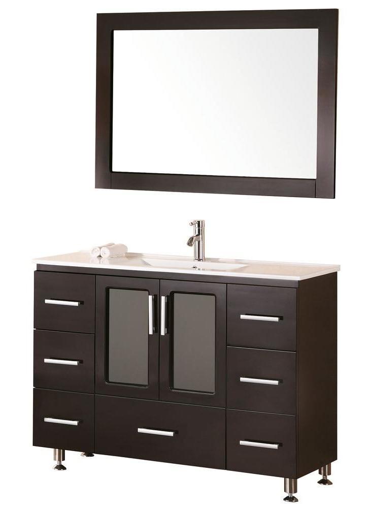 "Stanton 48"" Single Sink Vanity Set with Drop-In Sink in White"