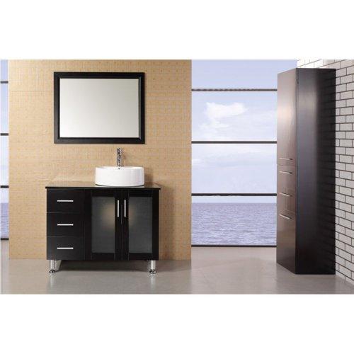 "Malibu 39"" Single Sink Vanity Set in White"