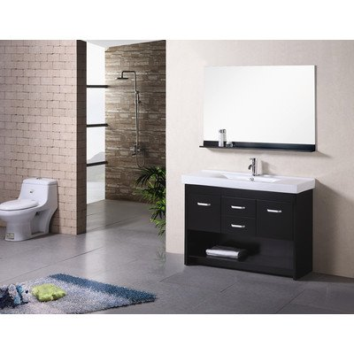"Citrus 48"" Single Sink Vanity Set in Espresso"