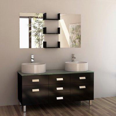 """Wellington 55"""" Double Sink Vanity Set in Espresso"""