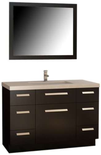 "Moscony 48"" Single Sink Vanity Set in Espresso"