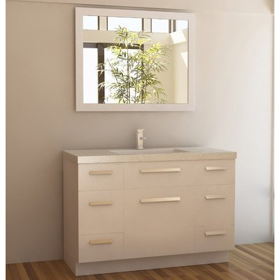 "Moscony 48"" Single Sink Vanity Set in White"