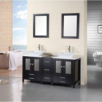 "Arlington 61"" Double Sink Vanity Set in Espresso"