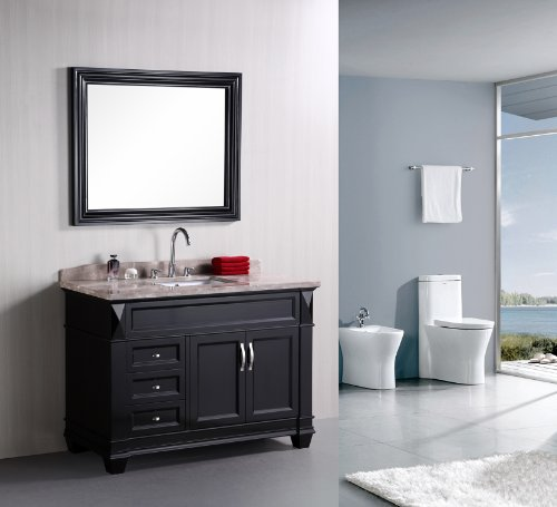 "Hudson 48"" Single Sink Vanity Set in Espresso"