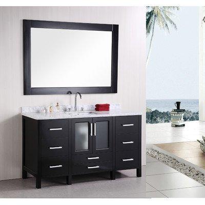 "Stanton 60"" Single Sink Vanity Set in Espresso"
