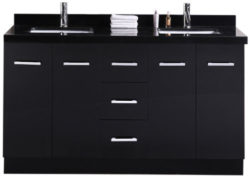"Cosmo 60"" Double Sink Vanity Set in Espresso"