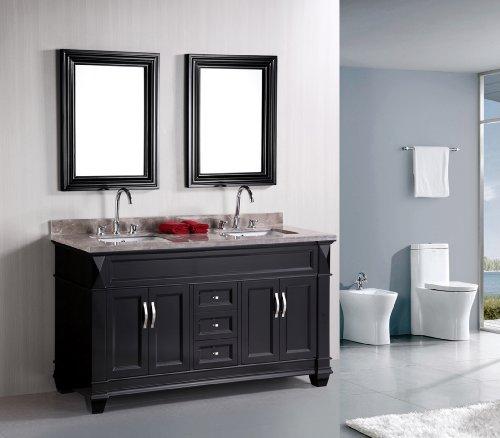 """Hudson 60"""" Double Sink Vanity Set in Espresso"""