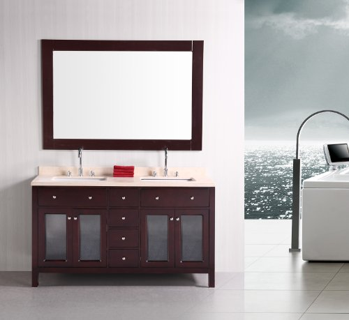 """Venetian 60"""" Double Sink Vanity Set in Espresso"""