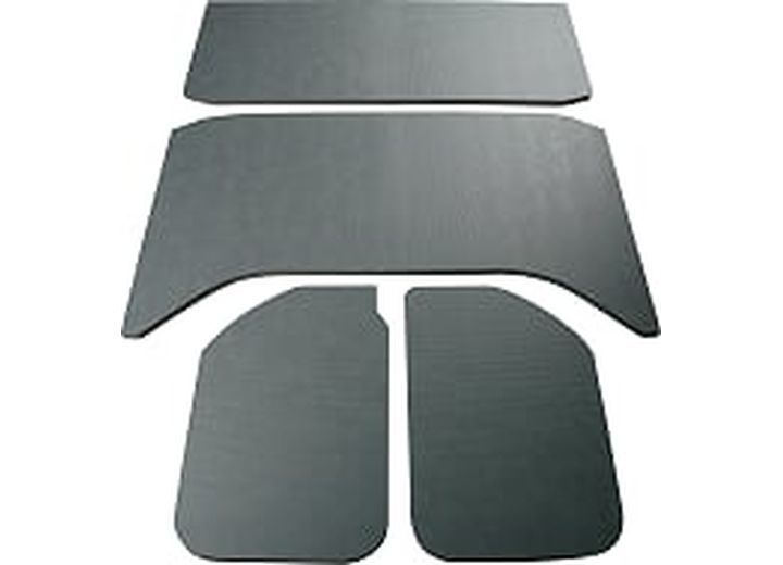 JEEP WRANGLER - 11-UP - 4 DR - 4-PC LEATHER LOOK - GRAY
