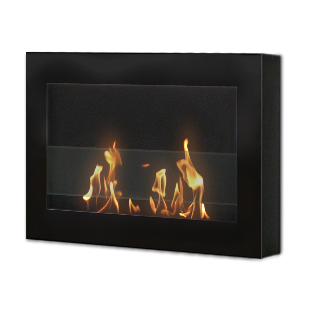 SoHo Wall Mount Fireplace, Black