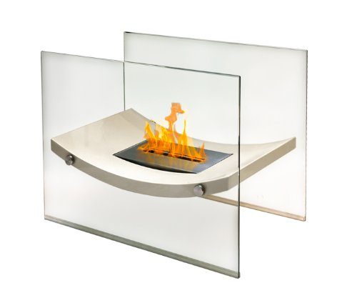Broadway Floor Standing Fireplace, Beige