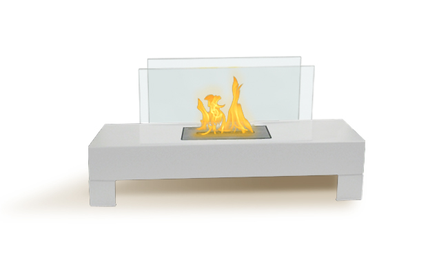 Gramercy Indoor/Outdoor Fireplace - White