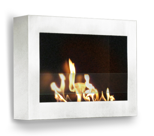 SoHo Indoor Wall Mount Fireplace - High Gloss White Paint