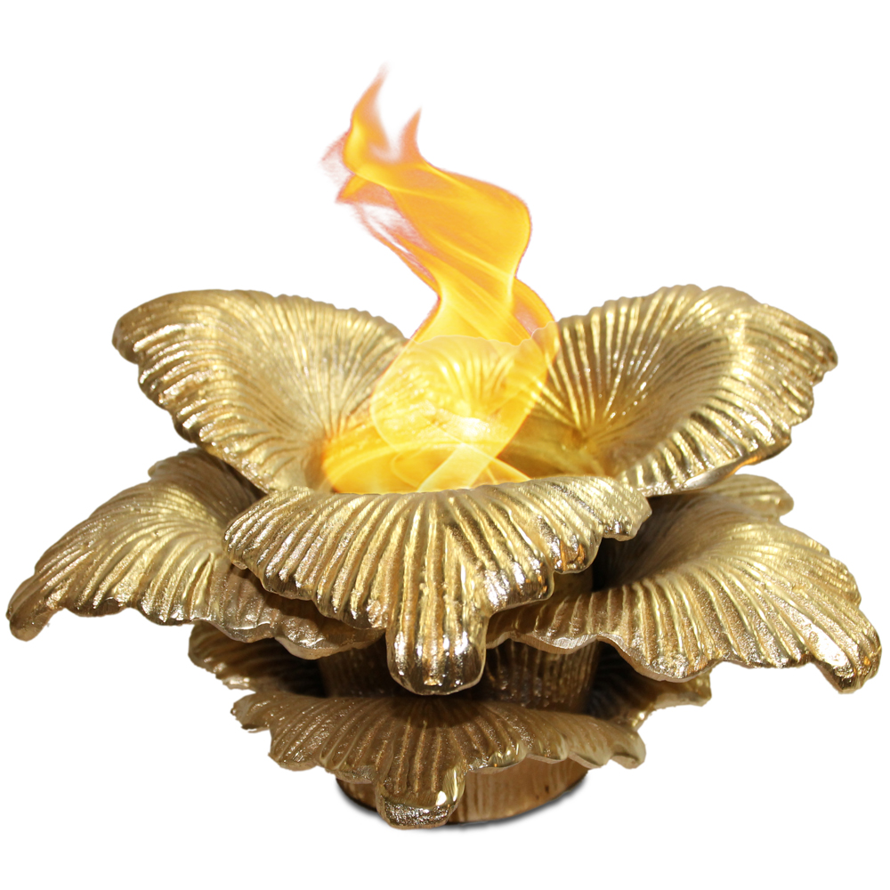 Chatsworth Gel Fuel Table Top Fireplace, Gold