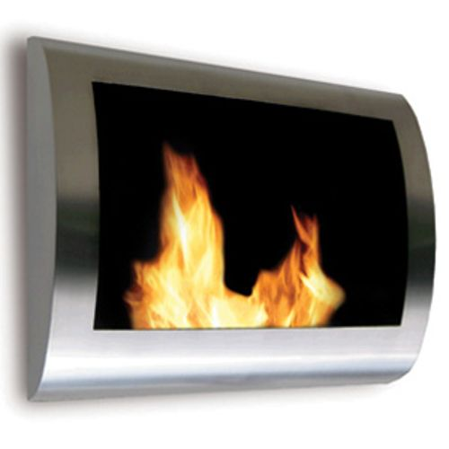 Chelsea Wall Mount Fireplace - Stainless Steel