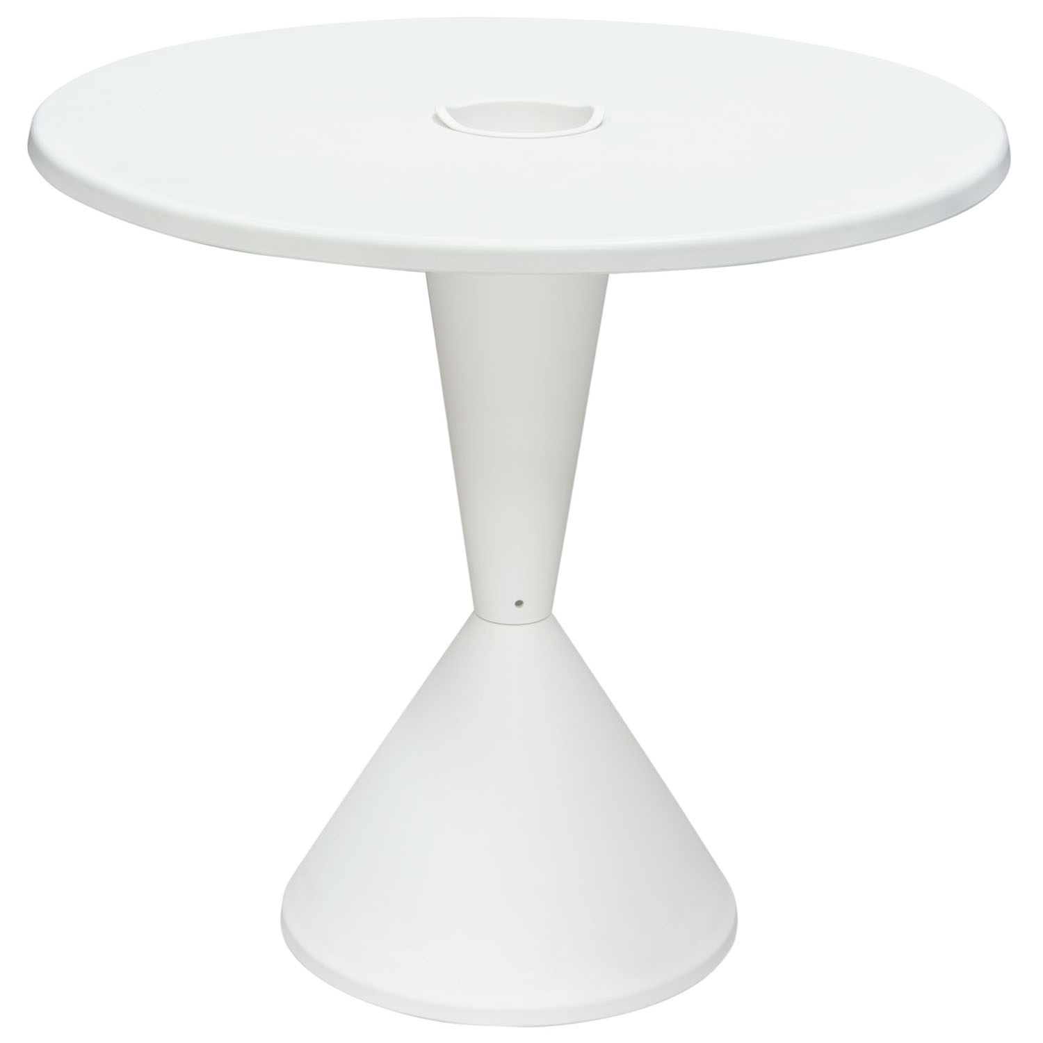 "Expo Indoor/Outdoor 31 "" Round Bistro Table in White Polypropylene (PP)"