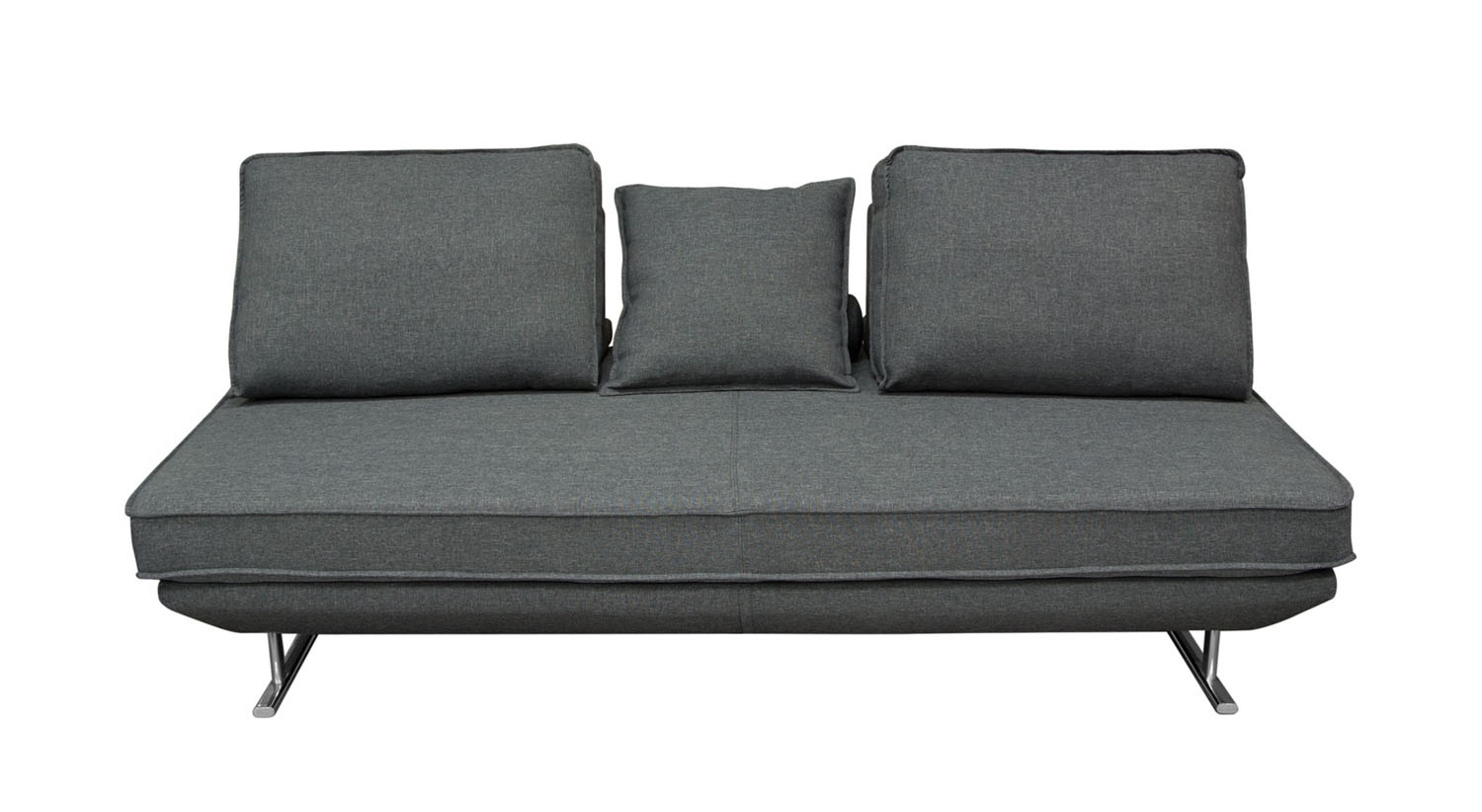 Dolce Lounge Seating Platform with Moveable Backrest Supports - Grey Fabric