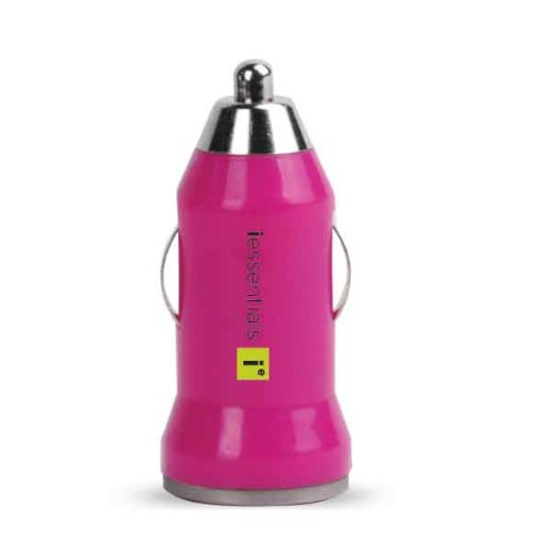 USB Car Charger Pink
