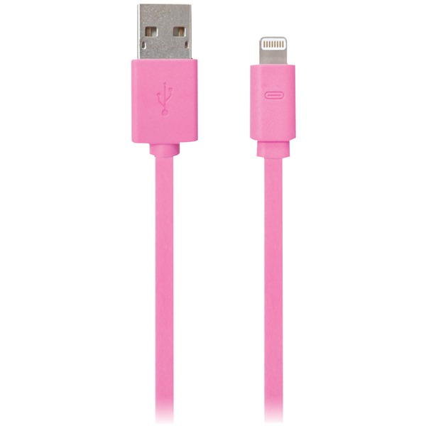 3' USB Charge cable iPhone5 Pink