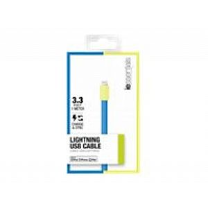 Flat Lightning USB Cable Blue Green