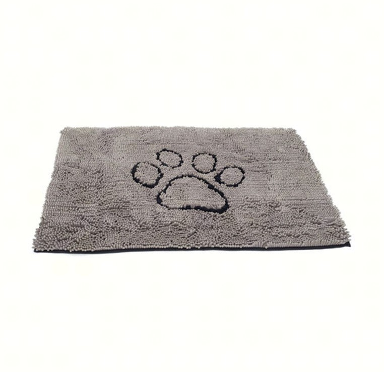 "31""x20"" Medium Dirty Dog Doormat, Grey"