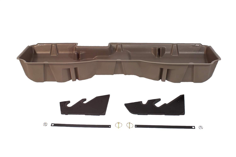 DU-HA 10303 Chevrolet/GMC Underseat Storage Console Organizer and Gun Case - Saddle Brown