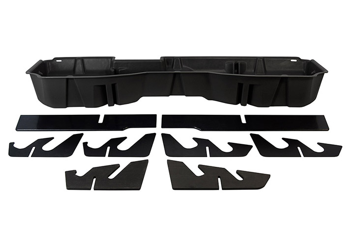 DU-HA 10300 Chevrolet/GMC Underseat Storage Console Organizer and Gun Case - Jet Black