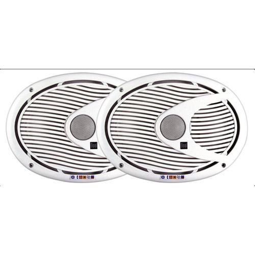 """Dual Marine 6""""x9"""" 2-Way Speakers White"""