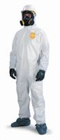 DuPont+ X-Large White ProShield+ 10 mil Anti-Static NexGen+ Disposable Coveralls With Front Zipper Closure And Elastic Around Fa