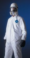 DuPont+ 3X White 5.4 mil Tyvek+ Disposable Coveralls With Front Zipper Closure