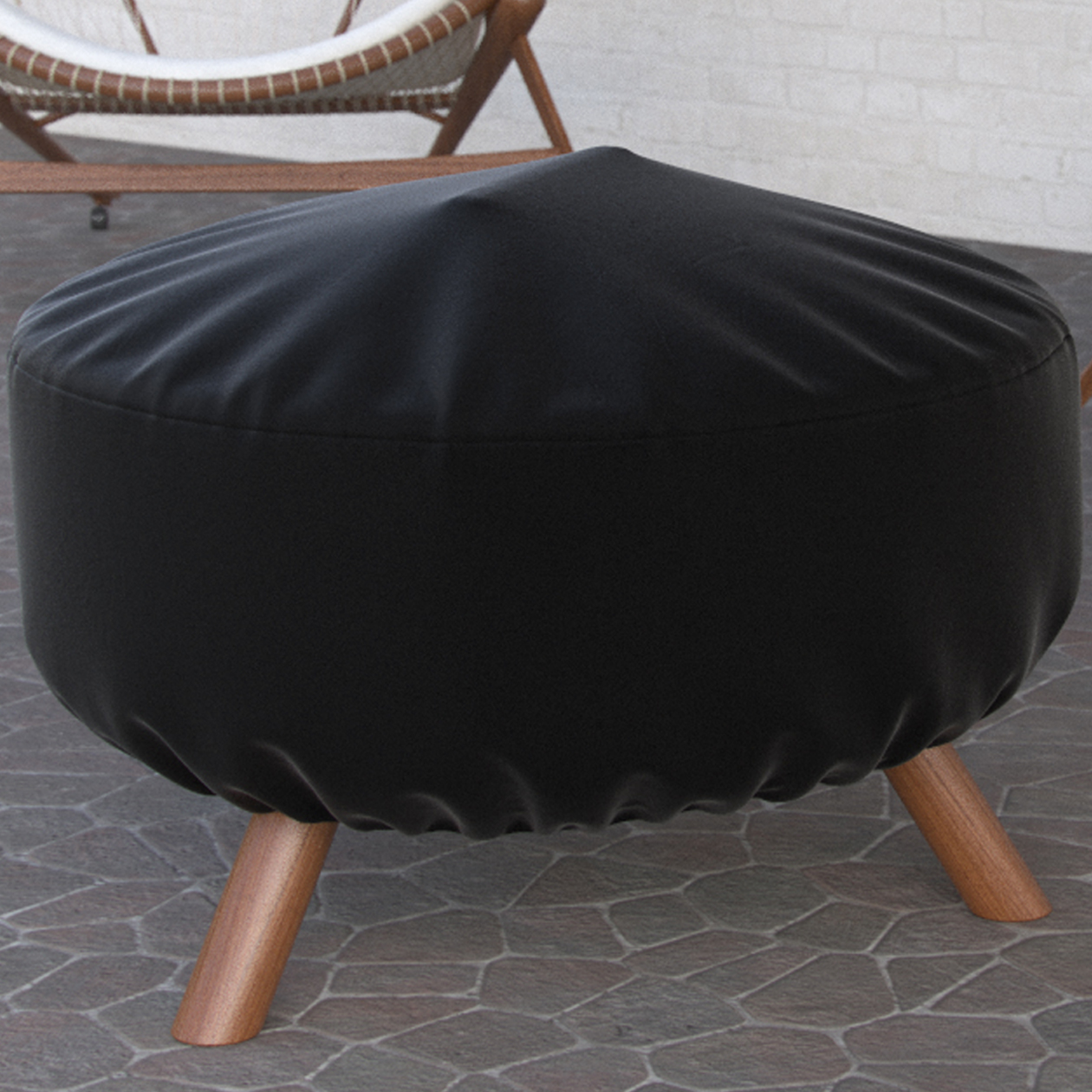 "Dura Covers Fade Proof Two Tone 44"" Heavy Duty Round Fire Pit Cover - Durable and Water Resistant Firepit Cover, Large"