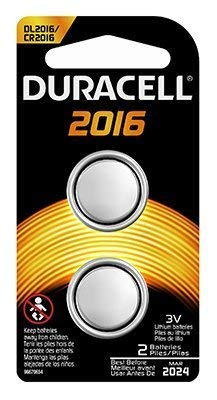 Duracell 3V Coin Lith 2016 2PK