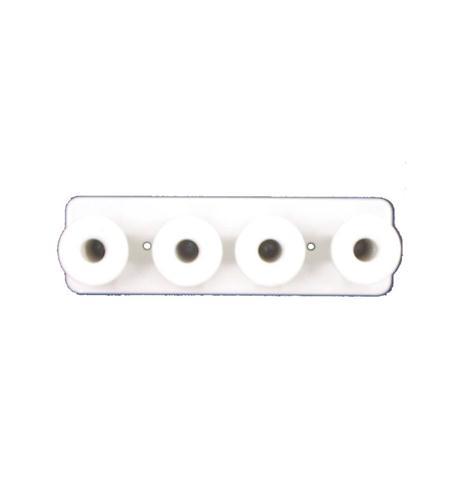 1X4 METAL MUSHROOM BOARD WHITE