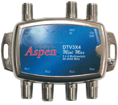 EAGLE ASPEN DTV3X4 DIRECTV-Approved 3-In x 4-Out Multiswitch