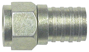 EAGLE ASPEN 500285 RG6 ZINC-PLATED CONNECTORS WITH O-RING & GEL, 100 PK