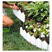 Easy Gardener 861 Adirondack Border, 6 in H X 22 in L, Polypropylene, Bright White