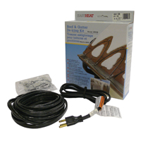 Easy Heat ADKS400 Electric Roof Fixed Resistance Pre-Terminated De-Icing Heating Cable, 80 ft, 120 VAC, 400 W