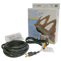 Easy Heat ADKS Fixed Resistance Roof and Gutter De-Icing Kit, 20 ft, 120 VAC, 100 W, 3-Wire Grounded Plug