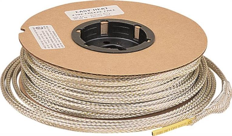 Easy Heat 2102 Self-Regulating Pipe Heating Cable, 100 ft, 120 VAC, 300 W, -60 deg F