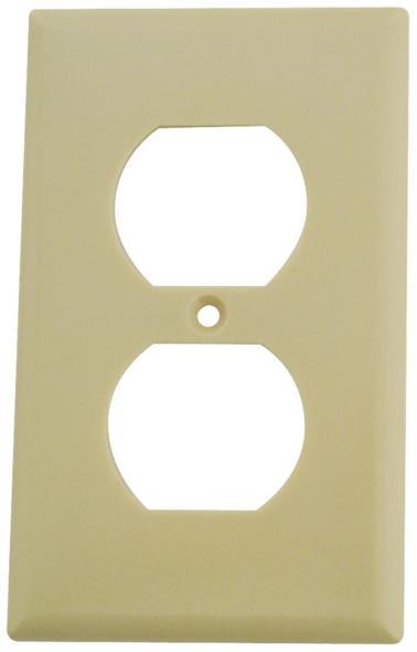 Arrow Hart 2132V-BOX Standard Wall Plate, 1 Gang, 4-1/2 in L X 2-3/4 in W X 0.08 in T, Ivory