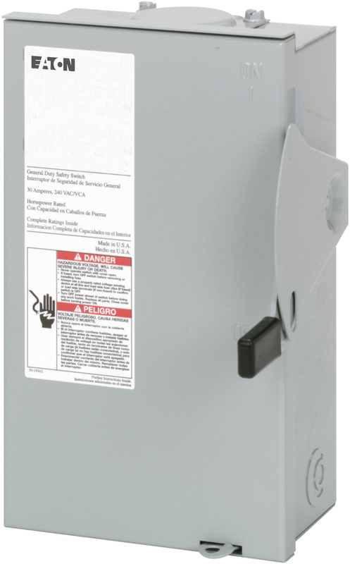 DG221NRB 30A SAFETY SWITCH