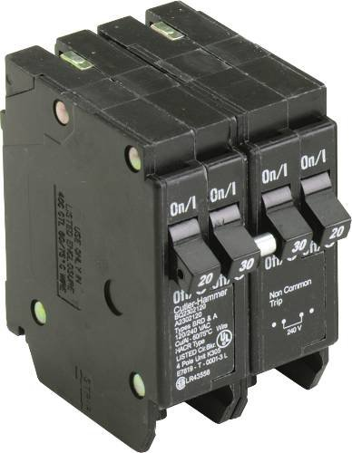BQ QUAD BREAKER ONE 2 POLE 40 AMP AND TWO 1 POLE 20 AMP INDEPENDENT TRIP