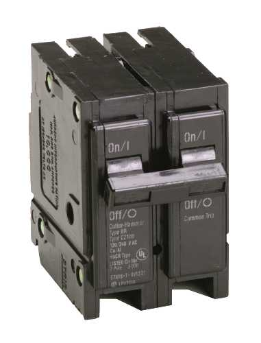 BR SERIES 2 POLE BREAKER 25 AMPS