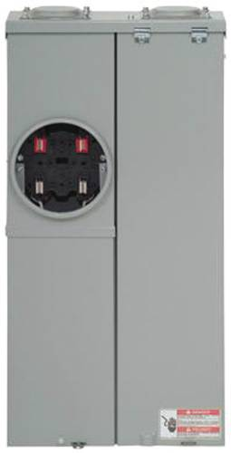BR OUTDOOR MAIN BREAKER METER AND PANEL HOUSE COMBO 200 AMPS