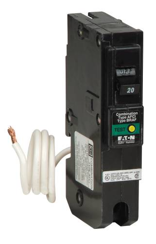 BR SERIES FIREGUARD COMBINATION TYPE AFCI BREAKERS 20A 1-POLE