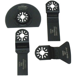 EAZYPOWER� OSCILLATING TOOL ACCESSORIES KIT, HSS, 4 IN., 4 PIECES