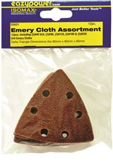 EAZYPOWER� OSCILLATING EMERY CLOTH SANDING PAD,3-1/8 IN., ASSORTED GRIT, 12 PER PACK