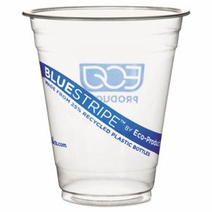 BlueStripe 25% Recycled Content Cold Cups Convenience Pack, 12 oz, 50/Pk