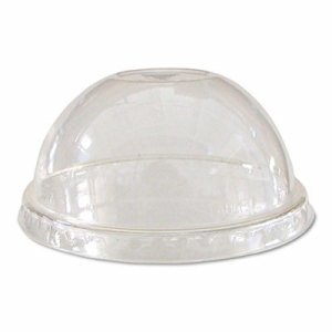 GreenStripe Renew & Comp Cold Cup Dome Lids, Fits 9-24oz., 100/PK, 10 PK/CT