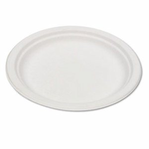 "Renewable & Compostable Sugarcane Plates Convenience Pack, 6"", 50/PK"